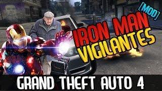 IRON MAN IL VIGILANTE - Grand Theft Auto 4 (Funny Moments MOD ITA)