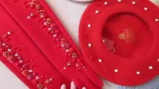 Модные аксесуары на осень-зиму. Берет с жемчугом. Вышивка и разные идеи от Ксении