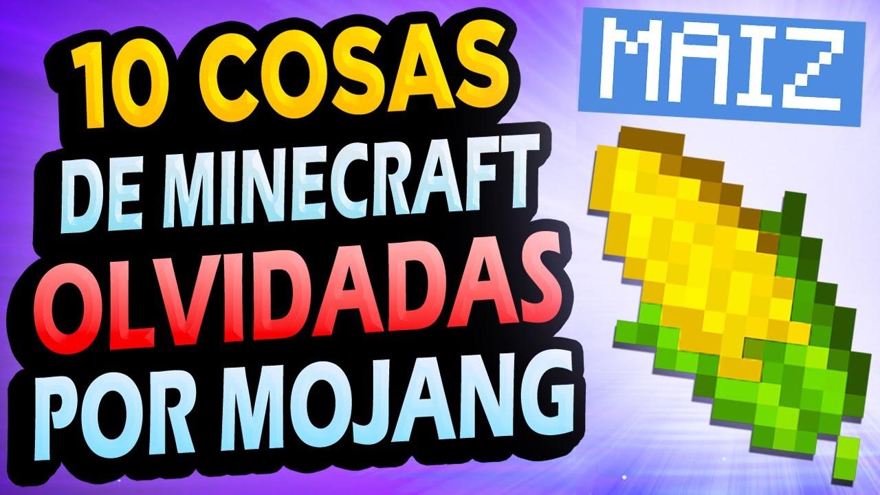 ✅ 10 Cosas De Minecraft OLVIDADAS Por Mojang!!