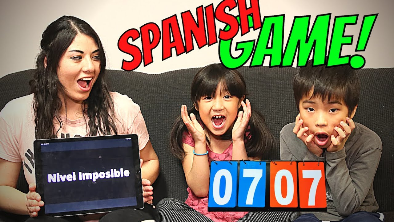 Testing our kids' Spanish learned from nannies!