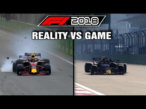 F1 2018 REAL LIFE CRASHES VS GAME