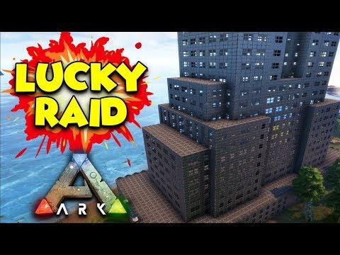 LUCKIEST RAID EVER  - ( Ragnarok ) ARK Duo Survival Series #21