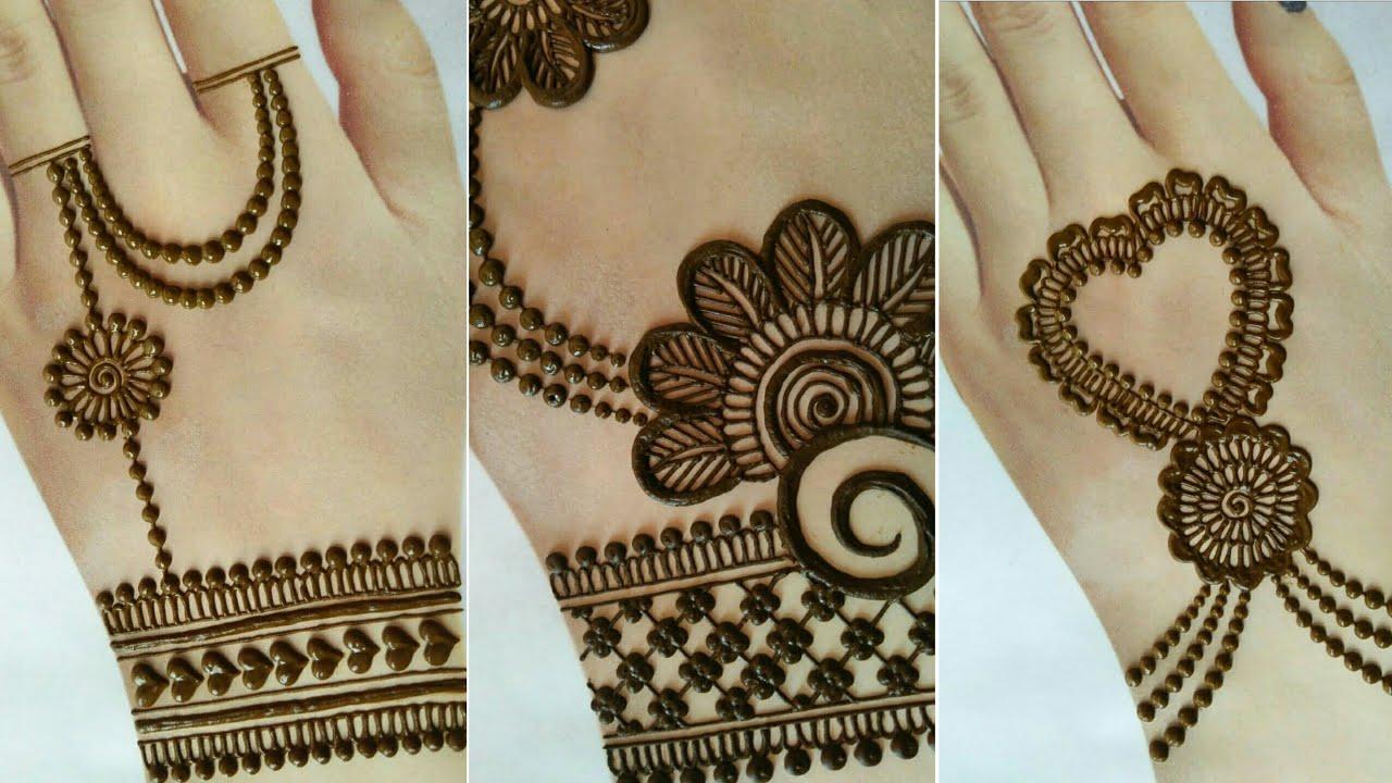 back hand side mehndi