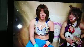 岩谷麻優 中野たむ 初タッグインタビュー 中野たむ 動画 11