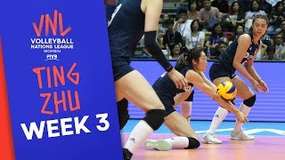 China's Ting Zhu on fire: 26 Points vs. Italy   Volleyball Nations League 2019