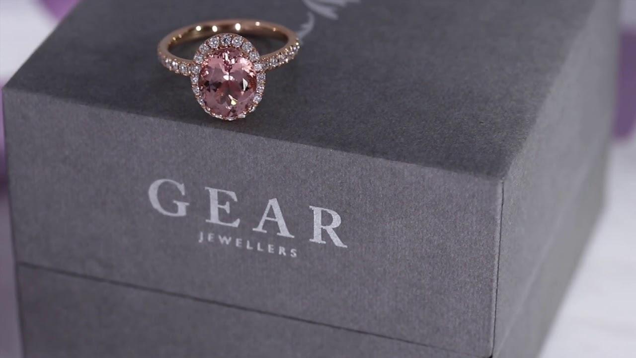 Gear Jewellers Dublin Queen Diamond Morganite Ring Youtube