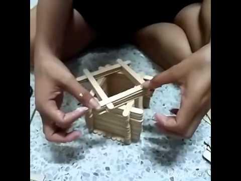 สิ่งประดิษฐ์จากไม้ไอติม  #วิดีโอส่งงาน