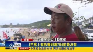 颱風接連報到 墾丁沙灘面積縮小1/3