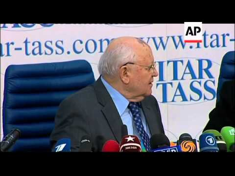 Former Russian president Mikhail Gorbachev criticises government