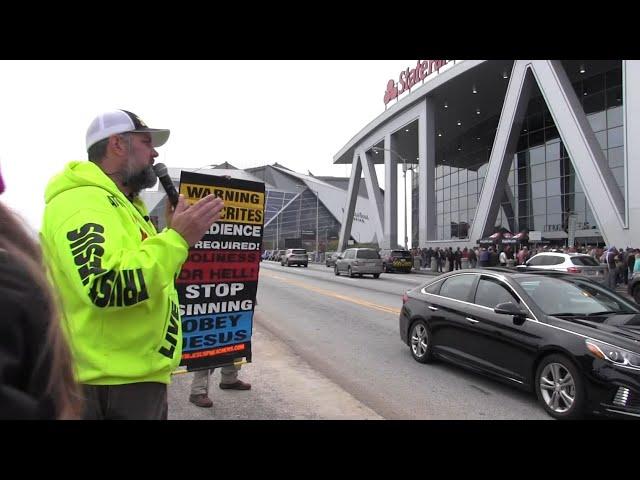 Street Preaching - 2019 Winter Jam In Atlanta, GA - LOTS of Professing Christians - Kerrigan Skelly