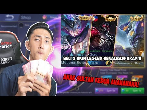 3 Skin LEGEND Gua BORONG Kali Yak? Hmm... - Mobile Legend Indonesia