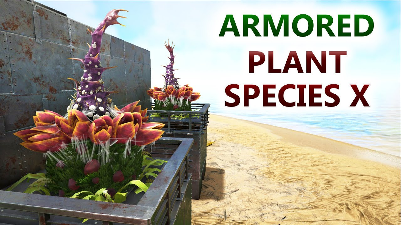 Ark armored plant species x armoured protected large for Plante x ark