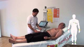 SCHILLER electrode placement for resting ECG with SCHILLER Vacuum Electrode System unit