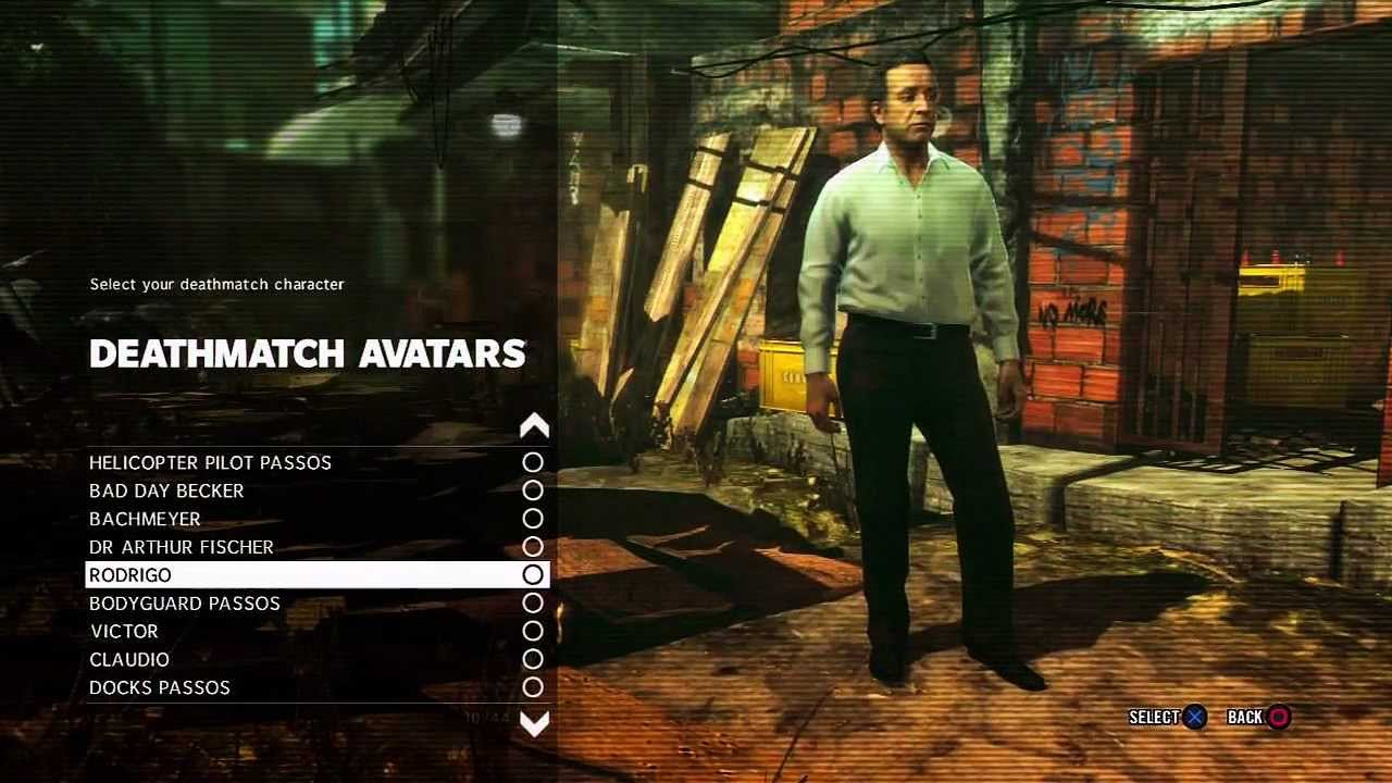Max Payne 3 All Characters Unlocked And More Youtube