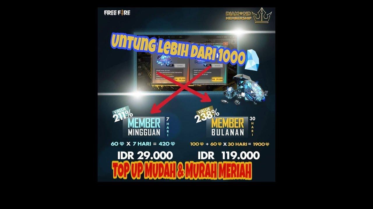 CARA BELI DIAMOND MEMBERSHIP VIA PULSA TELKOMSEL |FREE FIRE INDONESIA|