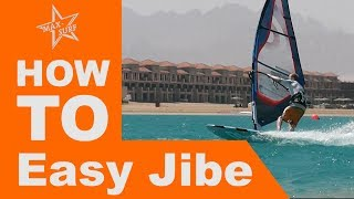 Windsurfing Tutorial How to Easy Jibe or Carve Jibe / Gybe technique tips