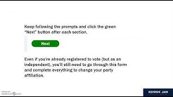 Register to Vote or Change Party Affiliation