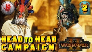 HEAD TO HEAD CAMPAIGN #2 Turin (Bloody Hands) v ItalianSpartacus (Tomb Kings)|Total War: Warhammer 2