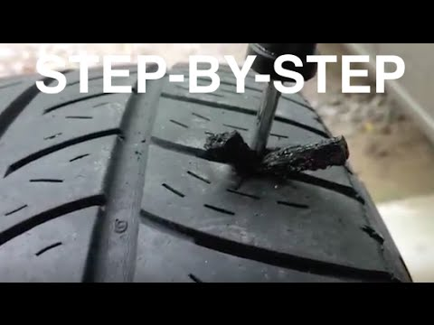 Tire For Less >> How To Patch Plug Hole In Tire In Less Than 5 Minutes Fix A Flat Tire Easy Fix