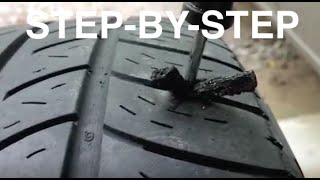 How To Patch/Plug Hole In Tire In Less Than 5 Minutes - Fix A Flat Tire - Easy Fix