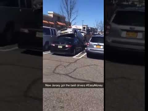 Check Out This Parking Job: Mercedes Drives Over Toyota At Paramus Mall