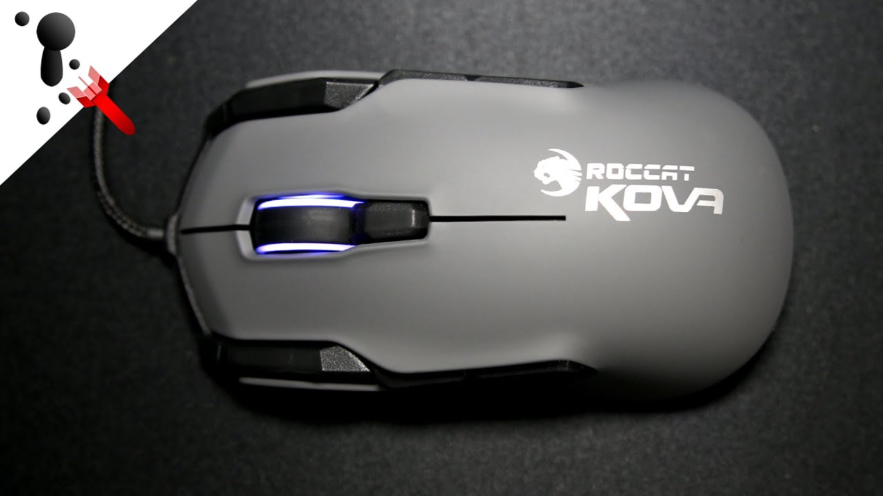 1561 - Roccat Kone Pure Color Phantom White Gaming Mouse Video .