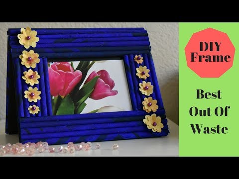 DIY   Easy Side table Photo-Frame using paper   Best out of Waste