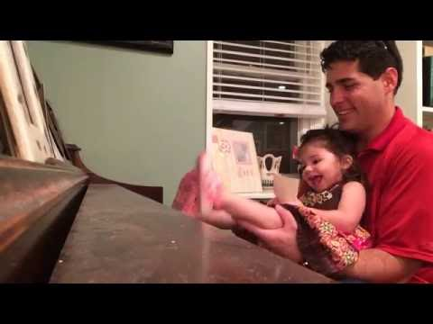 Gia plays Piano with FEET!