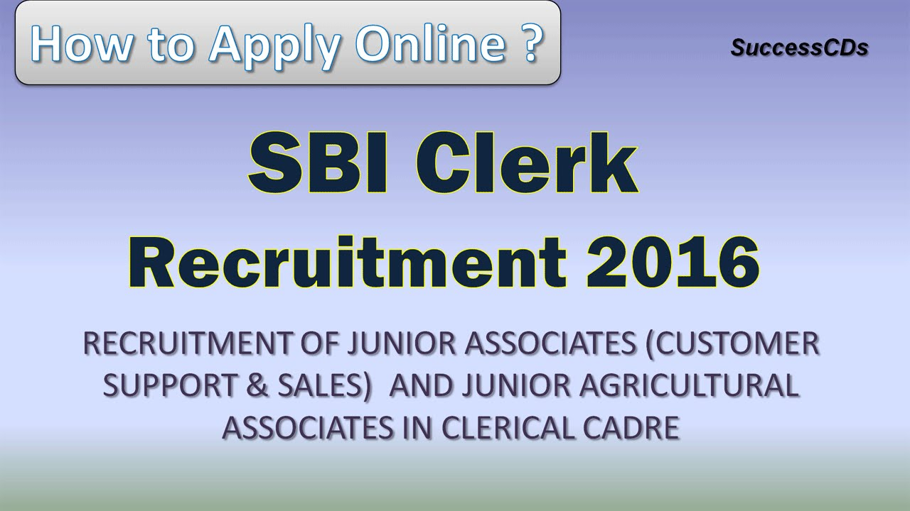 12b62ede072f Online Application process of SBI Clerical Recruitment - Junior Associates Sales  Agriculture