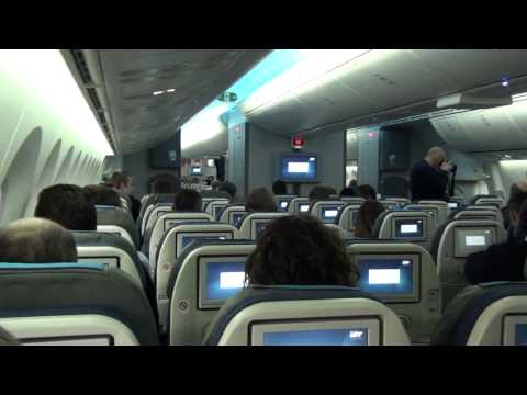 LOT Polish Airlines first scheduled flight of Dreamliner Boeing 787-85D from Warsaw to Prague