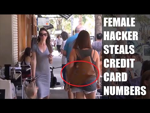 Female Steals Credit Card Numbers