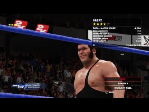 WWE 2K18 king of the ring andre the giant vs. Big stevie cool