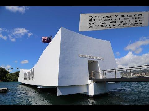 The USS Arizona memorial, Pearl Harbor in Hawaii