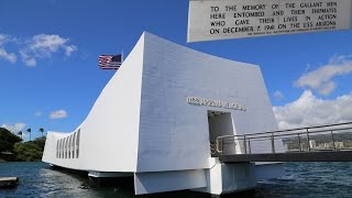 The USS Arizona memorial, Pearl Harbor in Hawaii