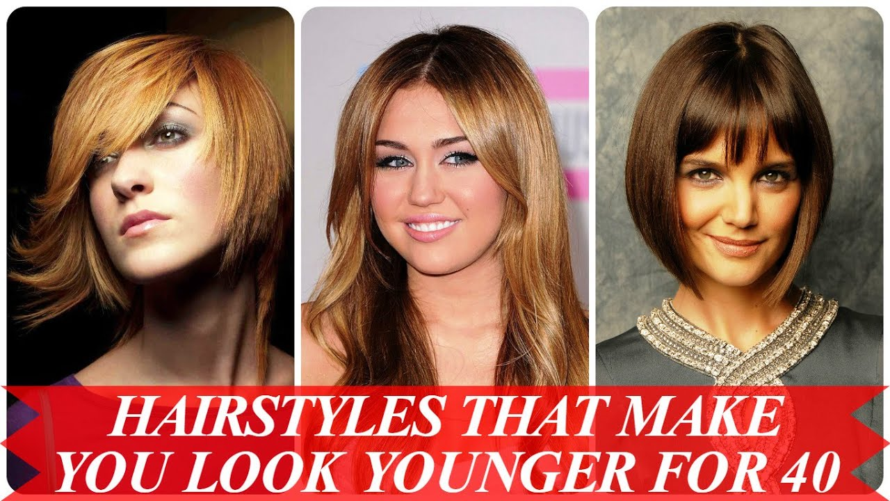 hairstyles make younger