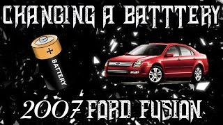Car Repair | How to CHANGE a BATTERY on a 2007 FORD FUSION. EASY guide to POWER your VEHICLE again