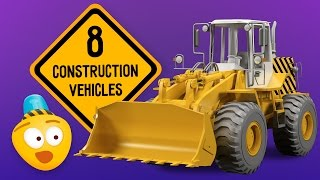 Kid's Construction Cartoon : Excavator, Crane, Dump Truck | Learning Construction Vehicles for Kids