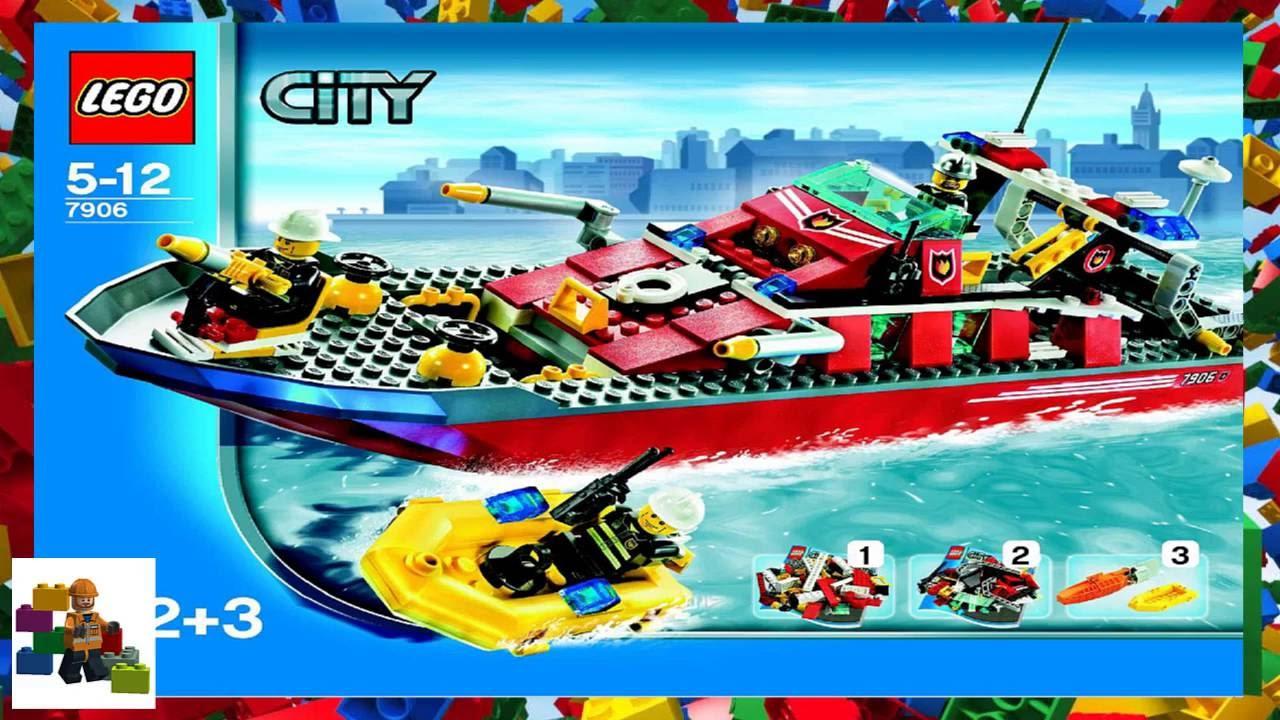 Lego Instructions City Fire 7906 Fireboat Youtube
