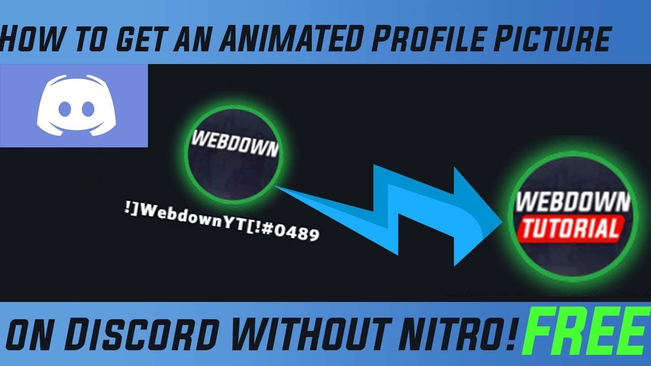 How To Get An Animated Profile Picture On Discord Without Nitro Gif For Free Youtube