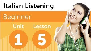 Italian Listening Comprehension - Discussing a New Design in Italian