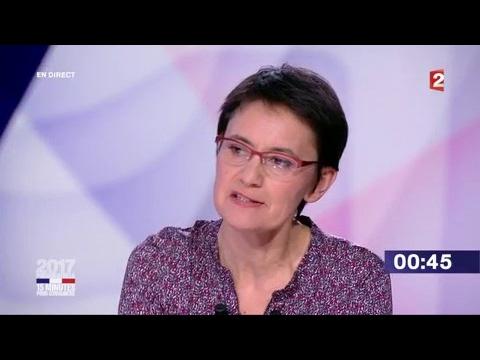 """Nathalie Arthaud dans """"15 minutes pour convaincre"""" sur France 2"""