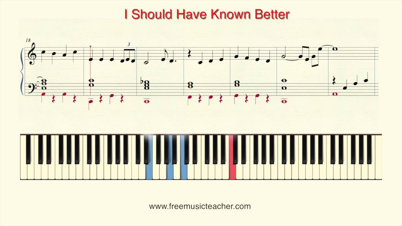How To Play Piano The Beatles I Should Have Known Better Piano