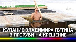 Путин искупался в проруби в 25-градусный мороз: видео