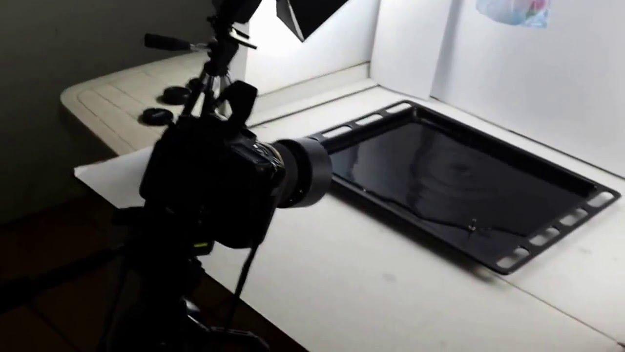 Fotografare gocce d 39 acqua con sotfbox fatto in casa youtube for Finestra con gocce d acqua