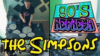 The Simpsons | Main Theme Drum Cover [DonutDrums] 90