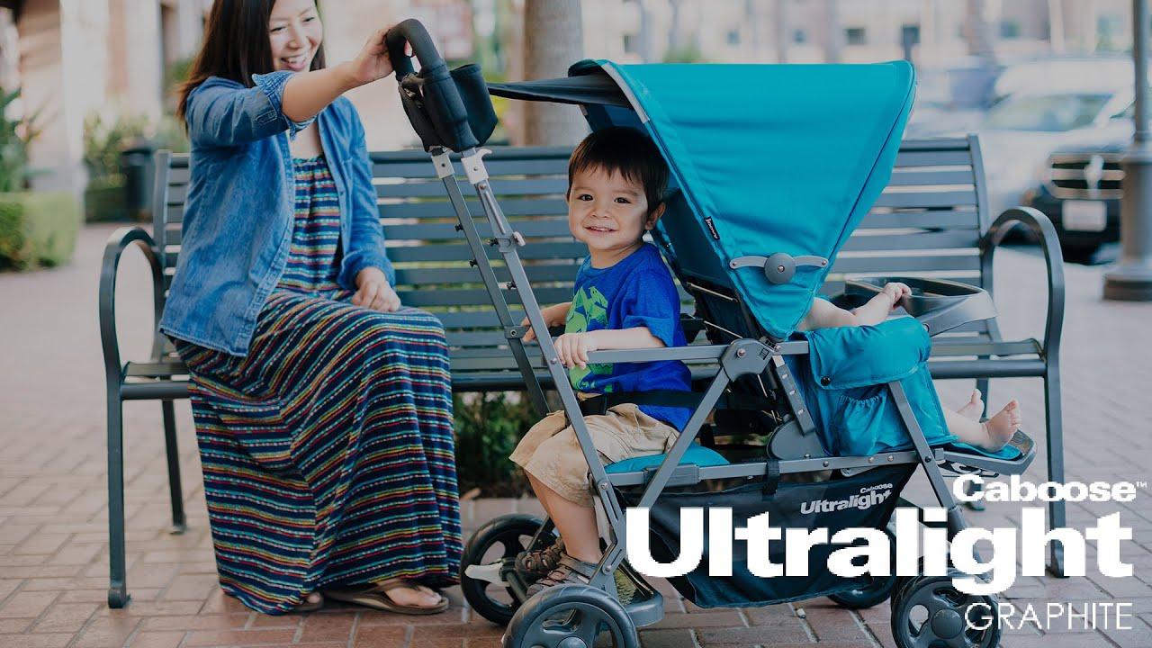 Прогулочная коляска для погодок Joovy Caboose Ultralight Graphite