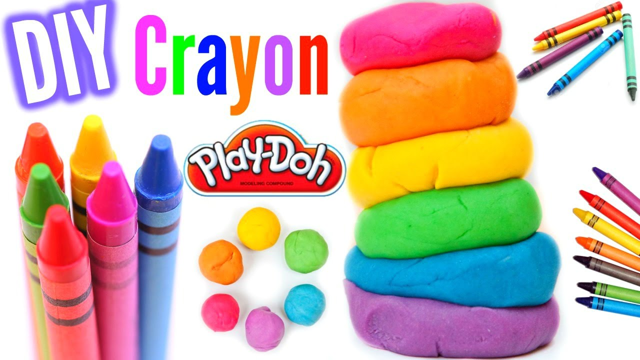 make play dough out of crayons diy crayon play dough youtube