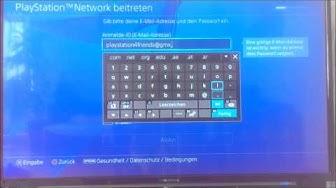 PS4 - Wie erstelle ich einen AT Account