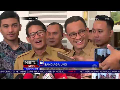 Hari Pertama Anies Sandi di Kantor Balai Kota Gubernur DKI Jakarta - NET12