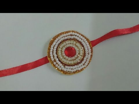 how to make rakhi at home step by step